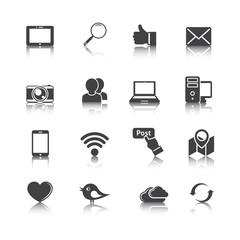 Zestaw multimedialnych ikon