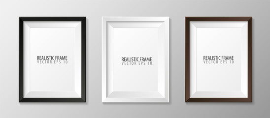 Set pf Realistic frames for your presentations. Vector illustration