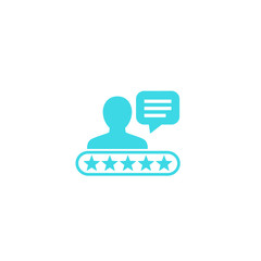 Customer review, comment, feedback icon