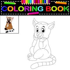 lemur coloring book