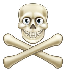 Skull and Crossbones Cartoon Character