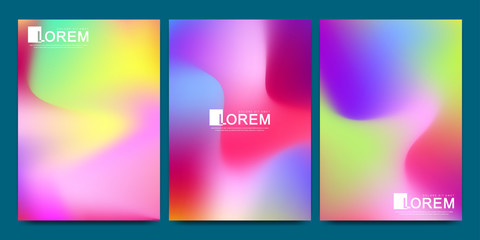 Modern vector template for brochure Leaflet flyer advert cover catalog magazine or annual report.. Abstract fluid 3d shapes vector trendy liquid colors backgrounds. Colored fluid graphic composition.