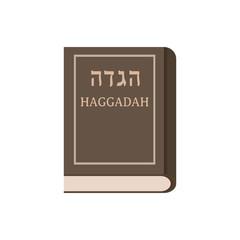 Passover holiday haggadah book flat design icon