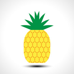 Pineapple icon symbol design illustration. Tropic fruit.