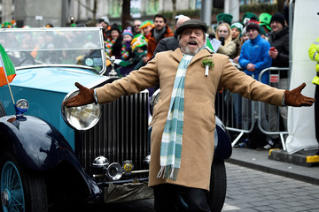 Actor Mark Hamill arrives at the St. Patrick's Day parade in Dublin