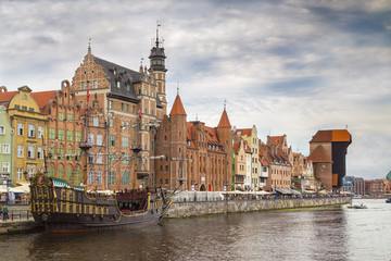 Wall Mural -  Embankment of the river in Gdansk