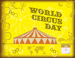Happy poster by World Circus Day