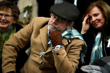 Actor Mark Hamill watches the St. Patrick's Day parade in Dublin