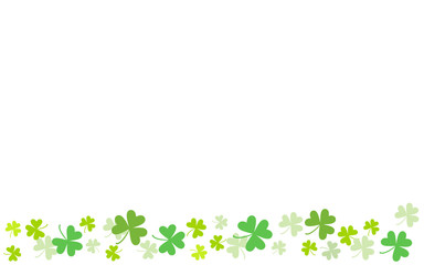Spring background of clover. St.Patrick 's Day. Religion and celebration.