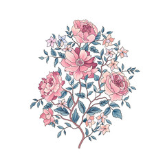 Floral background. Flower bouquet. Flourish spring floral greeting card