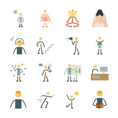 icon Human with pregnant, happiness, calling, mystical and yoga
