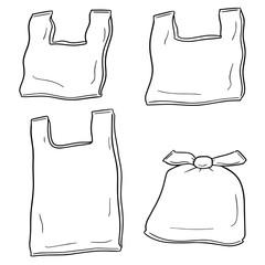 vector set of plastic bag