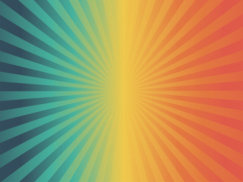 vintage tone color starburst abstract background