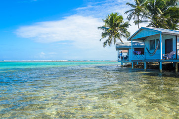Belize Cayes - Small tropical island at Barrier Reef with paradise beach - known for diving, snorkeling and relaxing vacations - Caribbean Sea, Belize, Central America