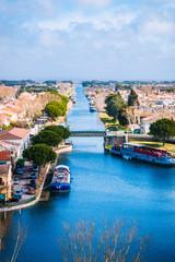Vue sur Aigues-Mortes depuis la Tour de Constance