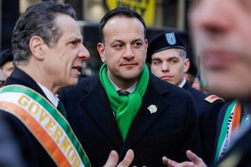 Irish Taoiseach Leo Varadkar attends the St Patrick's Day parade in New York