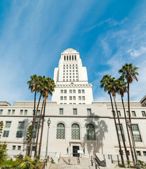 Front view of Los Angeles city hall