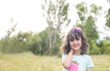 Little girl springtime in the park