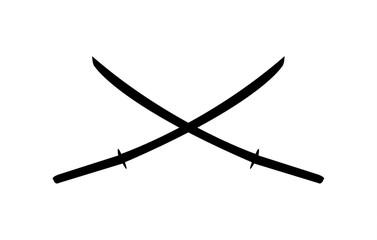 Two katana blades crossed