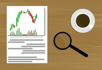 Market analysis vector
