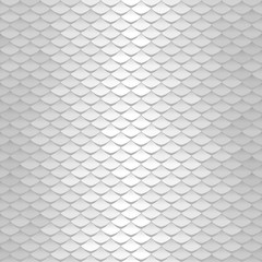 White texture. Abstract scale pattern. Roof tiles background.
