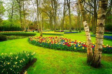 Formal spring garden