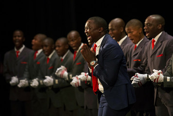 A group performs in the annual Iscathamiya competition in Durban
