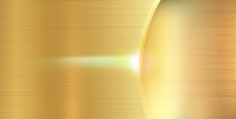 golden texture with shadow of the ring and ray of light
