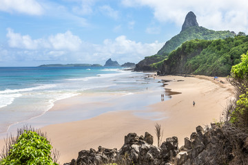 Fernando de Noronha, Brazil. Spectacular and Fernando de Noronha, Brazil. Beach multicolored beach. The most incredible island in Brazil.