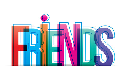 Friends colorful letters.