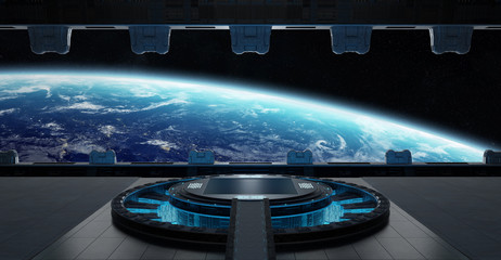Fototapete - Landing strip spaceship interior 3D rendering elements of this image furnished by NASA