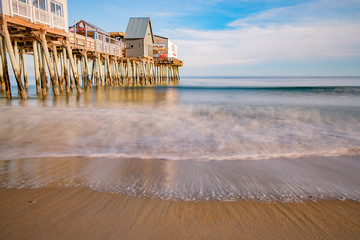 Maine's famous Old Orchard Beach Amusement Pier