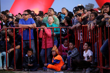 Fans meet to see watch episode 130 of the Dragon Ball Z anime at the Plaza de la Mexicanidad square in Ciudad Juarez