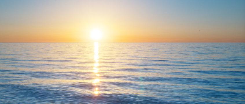 Sundown on the sea. Nature relax composition.