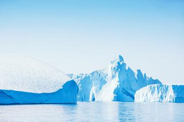 Big blue icebergs in Greenland