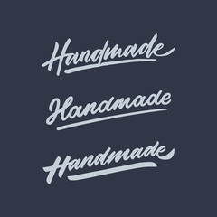 handmade vintage hand lettering typography