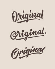 original vintage hand lettering typography