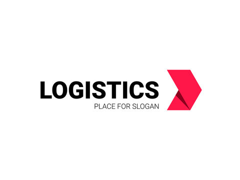 Transport logistic logo of express arrow moving forward for courier delivery or transportation and shipping service. Vector isolated arrows icon template for transport logistics company design