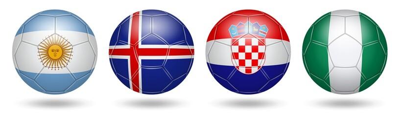 Fototapeta Football. Soccer. Flags. 2018. Gr D obraz