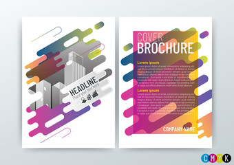 A4 Size, Abstract modern Background Creative Design, Business Brochure, Template Flyer Layout, Annual Report, Vector Illustration