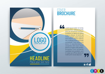 Abstract modern flyers brochure design, annual report, templates, stationery in size a4, Vector Illustration