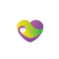 colorful heart love symbol logo