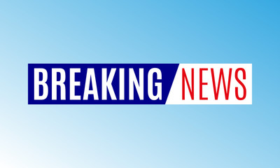 Breaking news banner. News logo or emblem design template. Vector ...