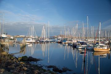Marina of Howth East Ireland