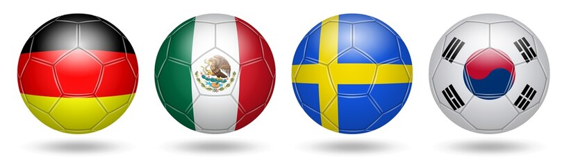 Football. Soccer. Flags. 2018. Gr F