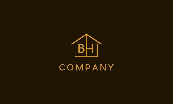 Letter BH Home logo