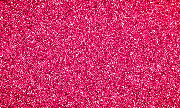 Pink glitter background texture banner. Vector pink glittery festive background for luxury gift card or holyday Christmas backdrop. Sparkle red confetti decoration design for premium design