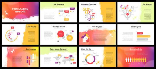 Business presentation templates Wall mural