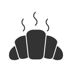 Fresh croissant glyph icon