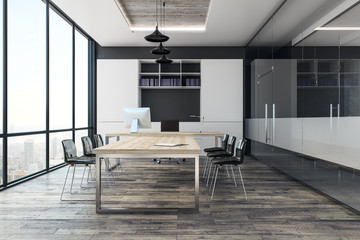 Modern conference room interior